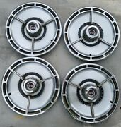 Set Of 4 Vintage 63/64 Chevy Ss Wheel Covers
