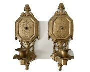 Nice Pair Antique Wall Sconce One Arm Sconces Candle Holders