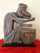 Disneyland Enchanted Tiki Room Drummer Lighted Replica Limited Edition Of 1000