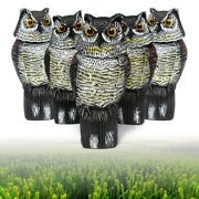 5pcs Large Realistic Owl Decoy Rotating Head Weed Pest Control Crow Scarecrow Us
