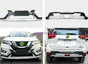 2x Front Rear Bumper Board Guard Protector Fit For Nissan X-trail 2017 2018 2019