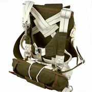 Od Military U.s.paratrooper Ww2 T-5 Parachute Backpack Full Set Normandy D-day