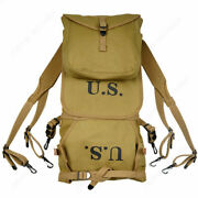 Military Wwii Ww2 Us Army M1928 1942 Haversack Knapsack Field Backpack Bah