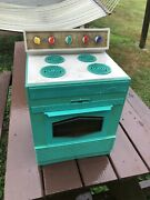 Vintage Mid Century 1950's 1960s Toy Play Stove Safety Oven Kitchen Topper Old