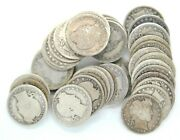 Roll Of 40 1899 O Barber Quarter Dollar 90 Silver 25 Cent Us Coin New Orleans
