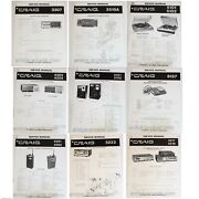 Craig Service Manuals For Vintage Stereo, Receivers, 8-track Players, Cb Radios