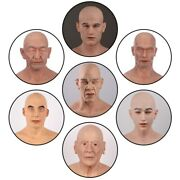 Silicone Realistic Full Head Old Man Mask Halloween Crossdresser Cosplay Party