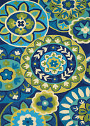 Couristan Covington 8and039 X 11and039 Rectangle Area Rugs In Ocean/green 37781014080110t