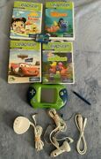 Leapfrog Leapster 2 And 1 Lot Bundle. 2 Consoles 5 Games Power Adapters Tested