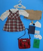 Retired Pleasant Co Mollyand039s School Story Outfit Backpack W Lunch Bags Food