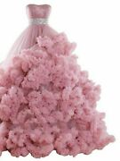 Cloud Dress Ball Gown Luxury Puffy Beaded Appliques Tiered Tulle Candy Color New