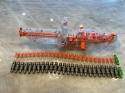 Nerf Vulcan Ebf-25 Gun Clear With Two Ammo Belts 30 Inches Long 5.6 Pounds