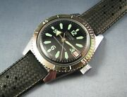 Vintage Lucerne Swiss Diver Style Mens Date Watch Hand Wind 1960s