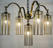 Noir Metal Chandelier With Antique Brass Finish Lamp502mb