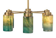 Jamie Young Vapor Chandelier In Brass And Vapor Glass 5vapo-chaq