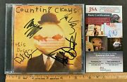 Counting Crows Hand Signed This Desert Life Cd Booklet W/cd/case Jsa / Coa Sm
