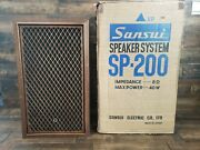 Vintage Sansui Sp-200 Speaker Made In Japan Pre-owned W/ Box Free Shipping