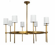 Jamie Young Minerva 8 Light Chandelier With Antique Brass Finish 5mine8-chab