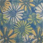 Nourison 8and0396 X 8and0396 Home And Garden Blue Indoor/outdoor Square Rug