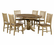Sunset Trading 7 Piece Oval Butterfly Leaf Dining Set Dlu-br4260-c60-pw7pc