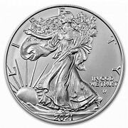 2021 American Silver Eagle Type 2 .999 Fine Silver With Our Certificate Of