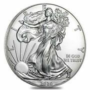2020 - American Silver Eagle .999 Fine Silver With Our Certificate Of