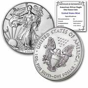 2021 1 Oz Silver American Eagle Brilliant Uncirculated Type 1 With Our