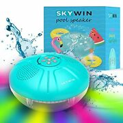 Skywin Hot Tub Speaker Andamp Pool Lights - Ipx7 Large Swimming Pool Lights And
