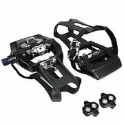 Bv Bike Shimano Spd Compatible 9/16and039and039 Pedals With Toe Clips Spd Cleats