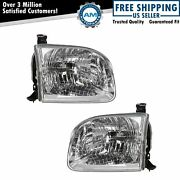 Headlights Headlamps Left And Right Pair Set For Toyota Sequoia Tundra Truck