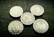 Lot Of 5 X 1/10ozt Real 999 Fine Silver Coins Collectable Goodluck Gift