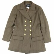 Vintage 96a Double Jacket Women And039s Tea 40 Wool Coco Mark Button No.9654