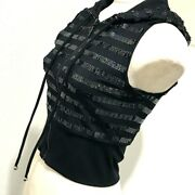 Hooded Apparel Zip Up 19c Vest Spangle Black Women And039s Previously No.9843