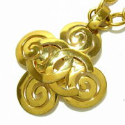 Necklace Coco Mark Gold Metal Material Previously Owned No.7734