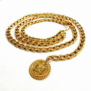 Belt Chain Gold Metal Material Previously Owned From Japan Fedex No.8131