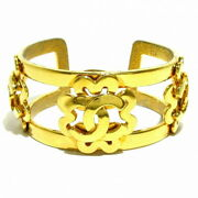 Bangle Coco Mark Gold Metal Material Previously Owned No.8480