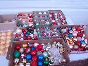 Vintage Glass Christmas Tree Ornaments And Others Estate Find Mixed Lot