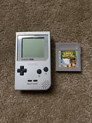 Authentic Game Boy Pocket Silver And Kirbyandrsquos Dreamland Tested Works Great