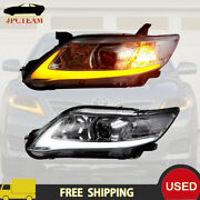 Vland Pair Headlight Led Drl Headlights Lamp For 2010-11 Toyota Camry Se Le Used