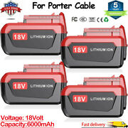18 Volt 6.0ah Lithium Battery Pc18b For Porter Cable 18v Pc18blx Pc18bl Tool Us
