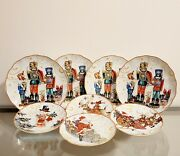 Williams Sonoma Twas The Night Before Christmas Dinner And Salad Plate Set Of 8