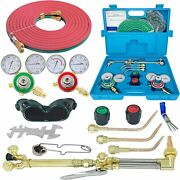 Rx Weld Oxygen And Acetylene Gas Cutting Torch And Welding Kit Portable Oxy Set