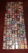 Lot Of 180 Basketball Baseball + Football Cards All Well Known Players See Pics