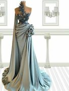 Party Gowns Evening Dress Couture Flowers Applique Ruffles Sequin Beads Backless