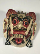 Vintage Handmade Carved Wood Mask Indonesia Boy Scouts Neckerchief Slide