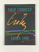 Dale Chihuly Signed Autograph W/ Paint On Book Cover Japan 1990 - Very Rare