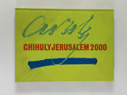 Dale Chihuly Signed Autograph W/ Paint On Book Cover Chihuly Jerusalem 2000