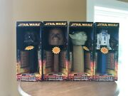 Star Wars Giant Pez Candy Roll Dispensers Set4yoda Chewbacca R2-d2 Darth Vader