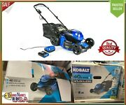 Kobalt 40v Brushless Lithium Ion 20-in Cordless Electric Lawn Mower With Battery