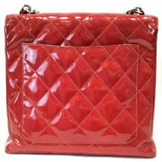 Enamel Red Coco Mark Handbag Women And039s Leather Magnet Button No.1862